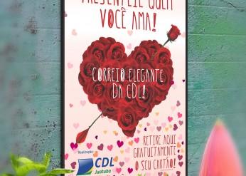 Campanha do Dia dos Namorados 2015 da CDL Juatuba - Cartaz